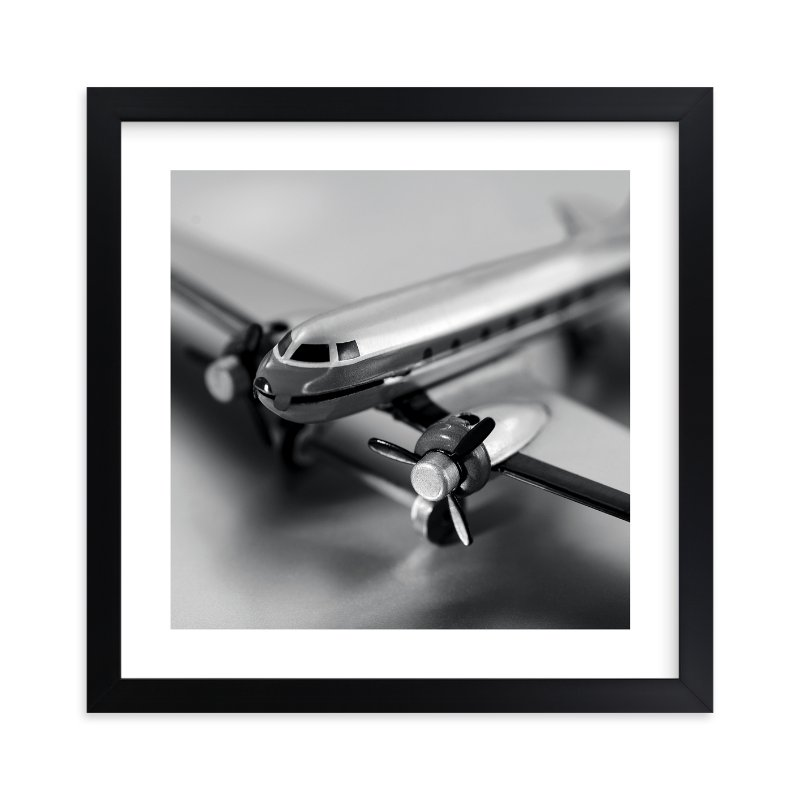 """""""Retro Airplane"""" - Limited Edition Art Print by Laura Hamm in beautiful frame options and a variety of sizes."""