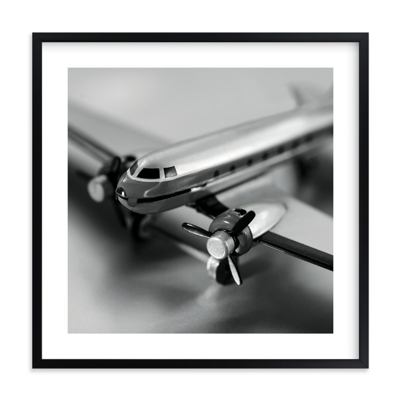 """Retro Airplane"" - Limited Edition Art Print by Laura Hamm in beautiful frame options and a variety of sizes."