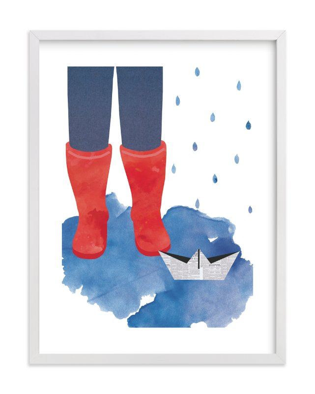 """A Rainy Day"" - Limited Edition Art Print by Kanika Mathur in beautiful frame options and a variety of sizes."