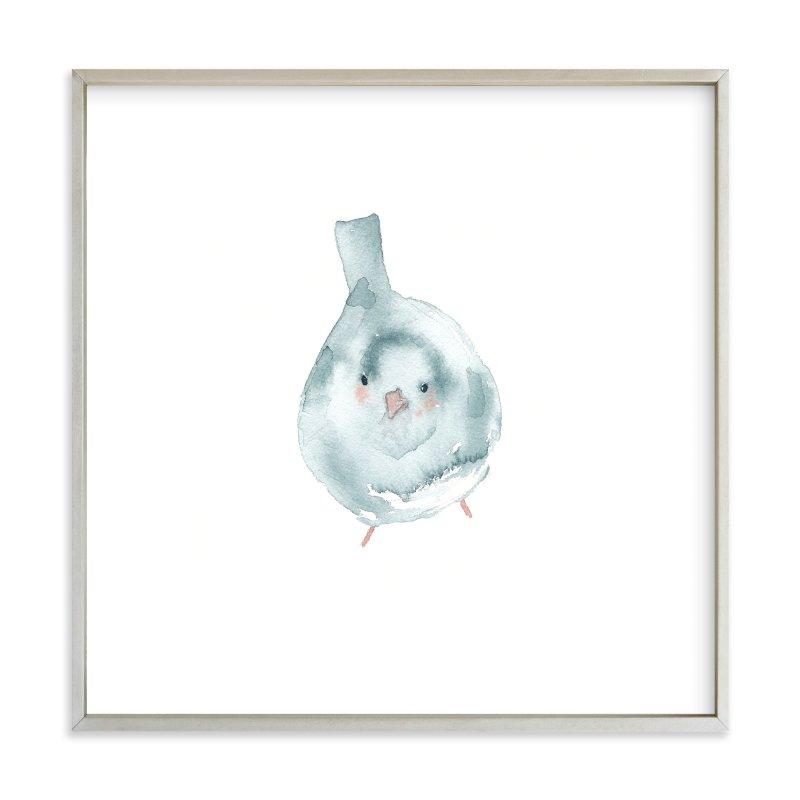 """Blushing Bird 3"" - Limited Edition Art Print by Renee Anne in beautiful frame options and a variety of sizes."