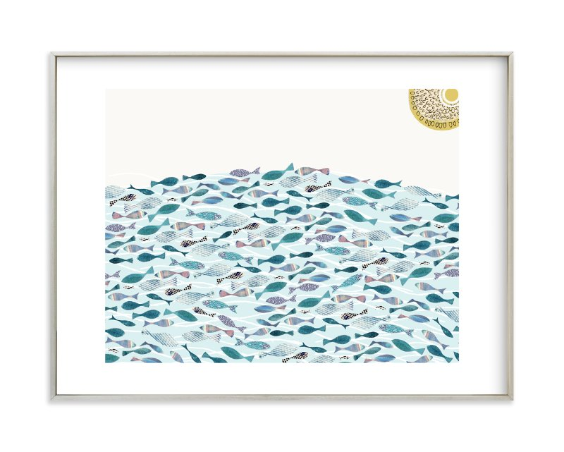 """Ocean Abundance"" - Limited Edition Art Print by Bethania Lima in beautiful frame options and a variety of sizes."