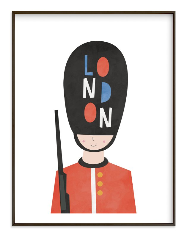 """Royal Guard"" - Limited Edition Art Print by Nazia Hyder in beautiful frame options and a variety of sizes."