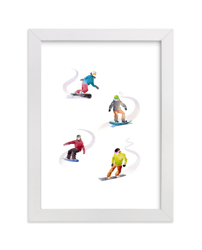 """The Boarders"" - Limited Edition Art Print by Haley Mistler in beautiful frame options and a variety of sizes."