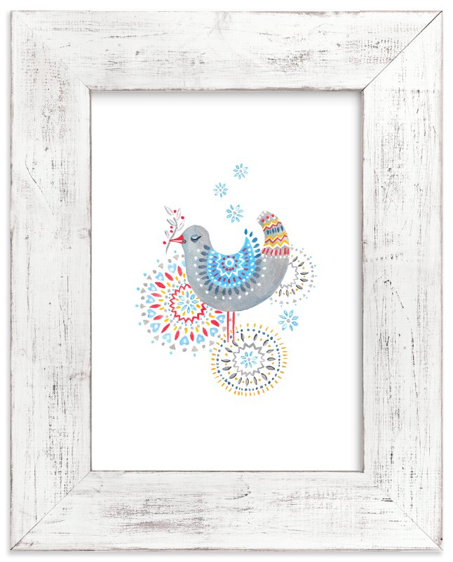 """While Snow is Falling"" - Limited Edition Art Print by Eva Marion in beautiful frame options and a variety of sizes."