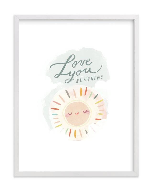 """""""Love You Sunshine"""" - Limited Edition Art Print by Lori Wemple in beautiful frame options and a variety of sizes."""