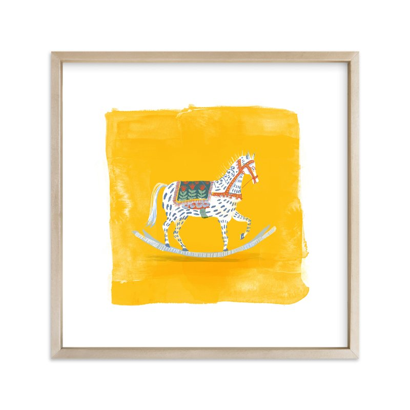 """Saffron Rockabye Baby "" - Limited Edition Art Print by Zoe Pappenheimer in beautiful frame options and a variety of sizes."