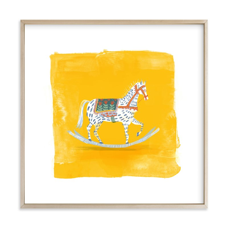 """""""Saffron Rockabye Baby """" - Limited Edition Art Print by Zoe Pappenheimer in beautiful frame options and a variety of sizes."""