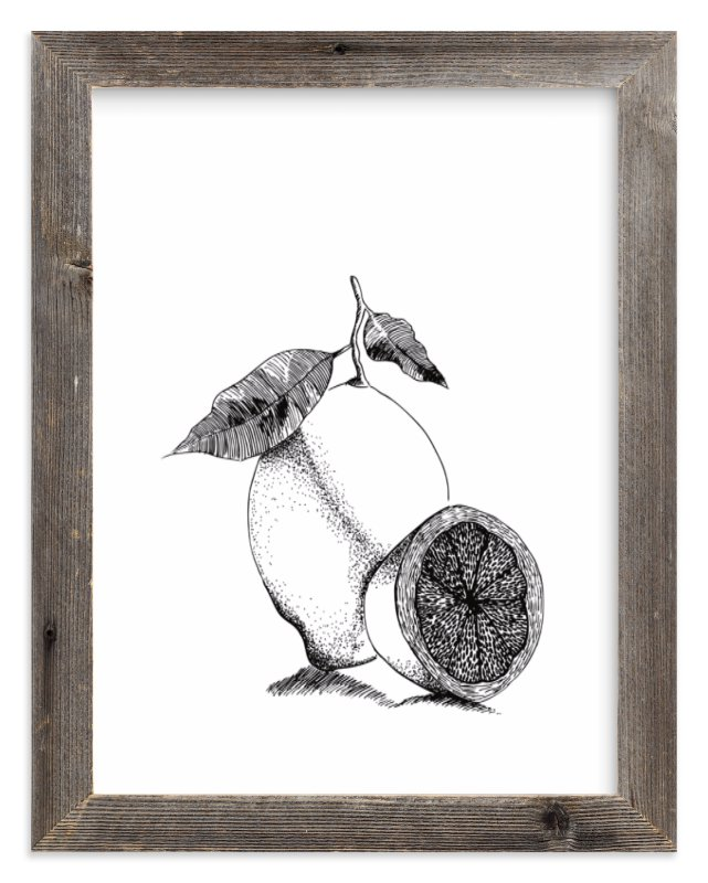 """Lemonade"" - Limited Edition Art Print by Leah Bisch in beautiful frame options and a variety of sizes."