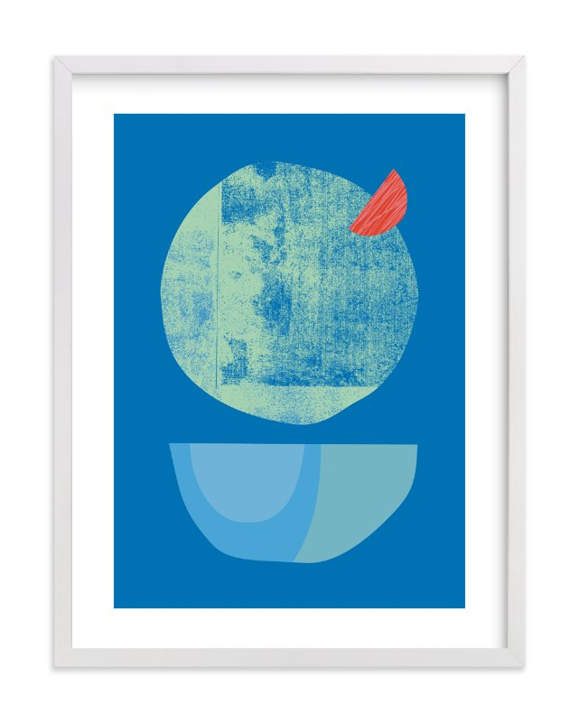 """""""Blue Garnish"""" - Limited Edition Art Print by sue prue in beautiful frame options and a variety of sizes."""