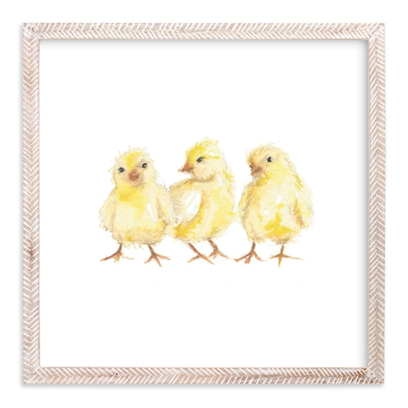 """Baby Chicks"" - Limited Edition Art Print by Carrie Beth Taylor in beautiful frame options and a variety of sizes."