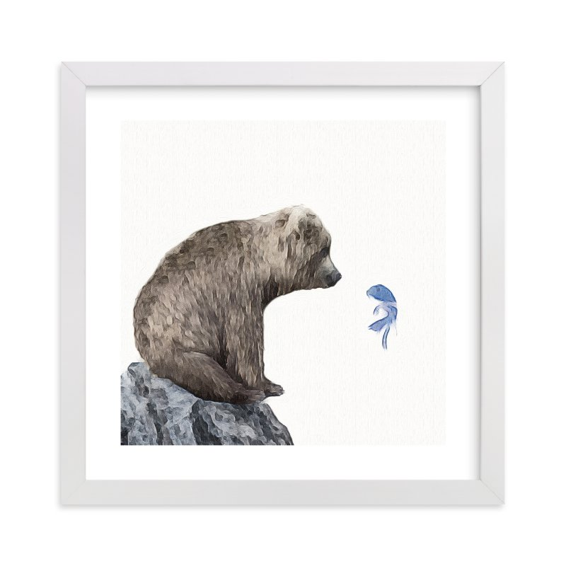 """Blue Fish Wish"" - Limited Edition Art Print by Maja Cunningham in beautiful frame options and a variety of sizes."