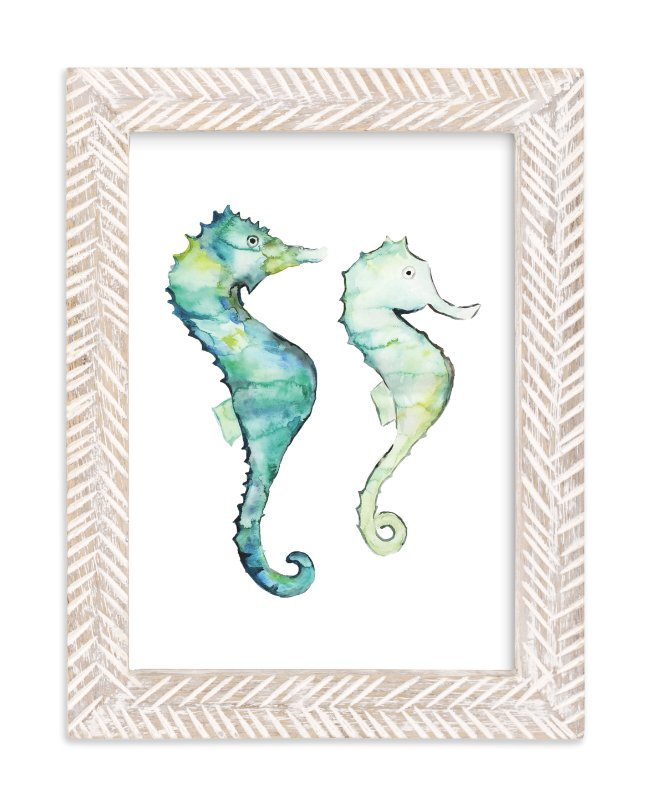 """The Tale of Two Tails"" - Limited Edition Art Print by Sydney Marie Morrison in beautiful frame options and a variety of sizes."