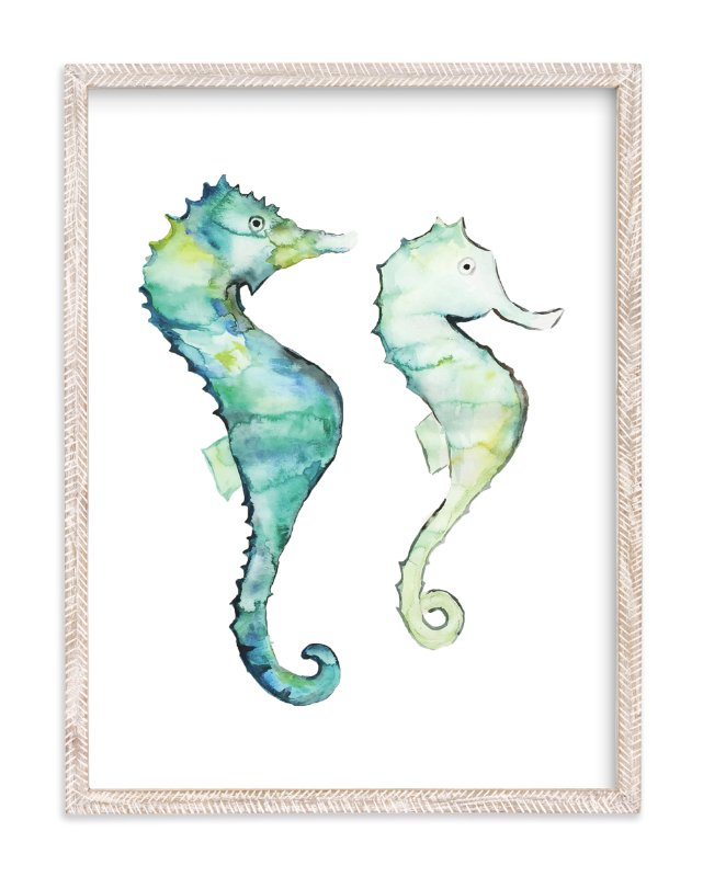"""""""The Tale of Two Tails"""" - Limited Edition Art Print by Sydney Marie Morrison in beautiful frame options and a variety of sizes."""