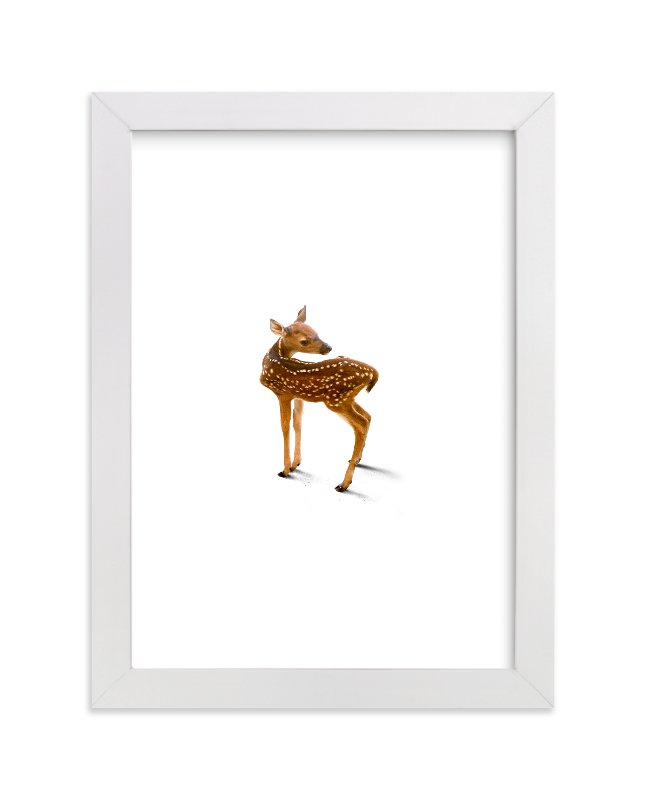 """""""A Deer Friend"""" - Limited Edition Art Print by Andrew McClintock in beautiful frame options and a variety of sizes."""