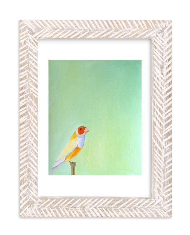 """Perched"" - Limited Edition Art Print by claire whitehead in beautiful frame options and a variety of sizes."