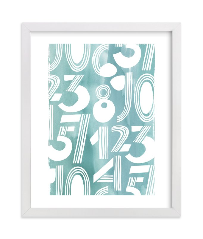 """""""Linear Counts"""" - Limited Edition Art Print by Daniela in beautiful frame options and a variety of sizes."""
