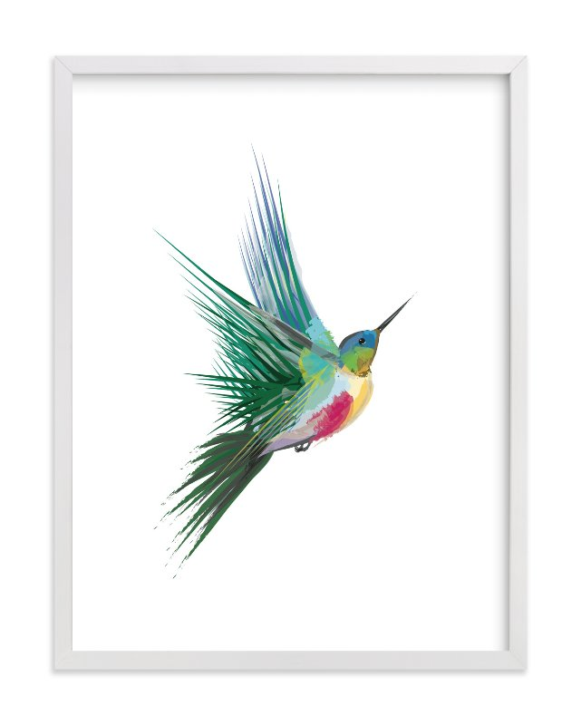 """hummingbird"" - Limited Edition Art Print by Sara Shashani in beautiful frame options and a variety of sizes."