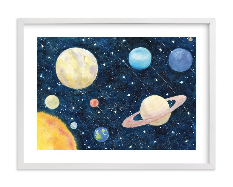 """""""Solar System"""" by Alexandra Dzh in beautiful frame options and a variety of sizes."""