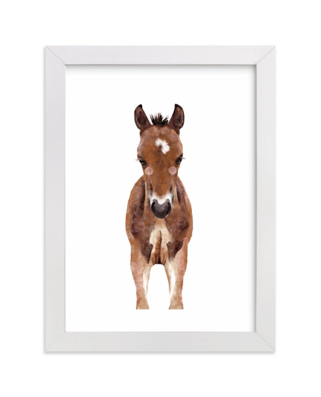 """Baby Animal Horse"" by Cass Loh in beautiful frame options and a variety of sizes."