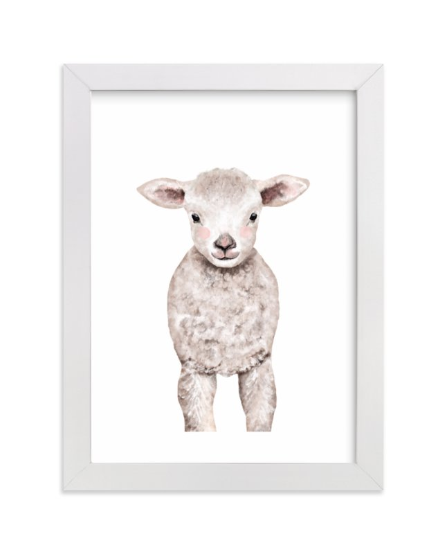 Baby Animal Sheep Wall Art Prints by Cass Loh   Minted