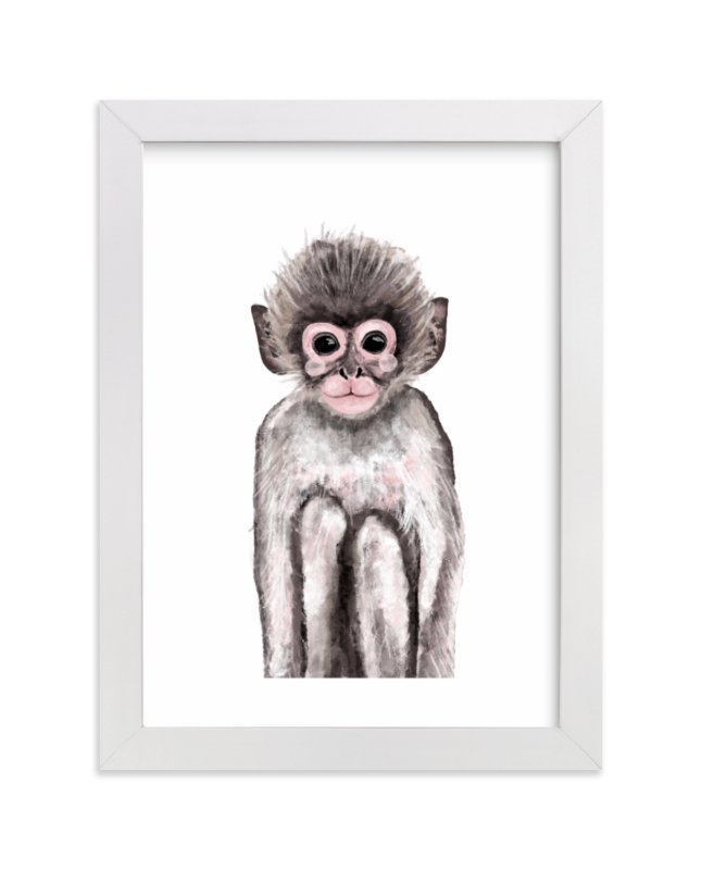 """""""Baby Animal Monkey"""" by Cass Loh in beautiful frame options and a variety of sizes."""