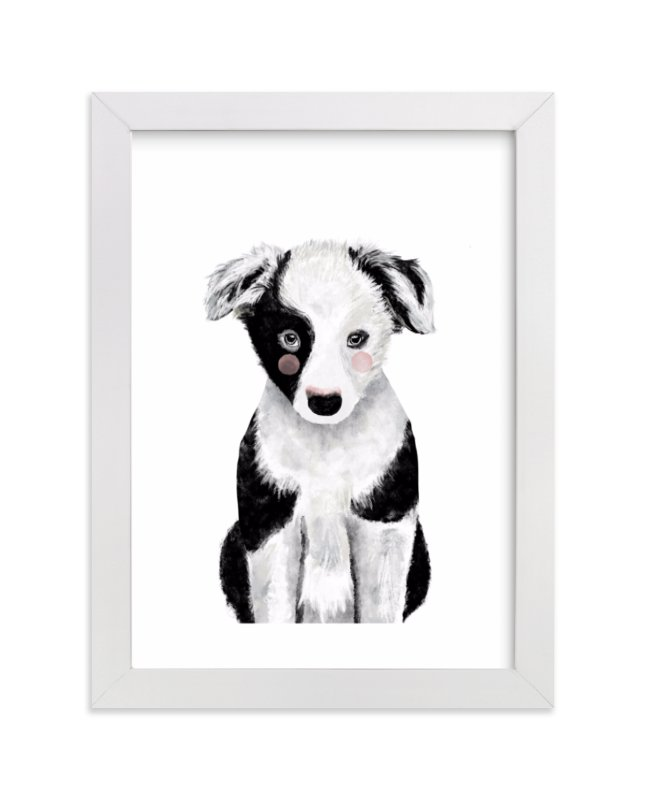 """""""Baby Animal Dog"""" by Cass Loh in beautiful frame options and a variety of sizes."""