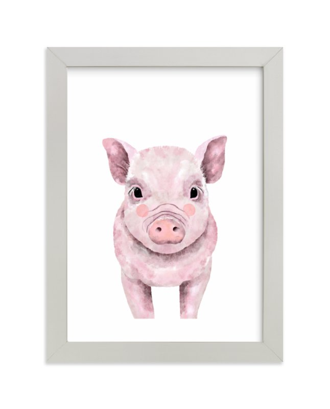 """""""Baby Animal Pig"""" by Cass Loh in beautiful frame options and a variety of sizes."""