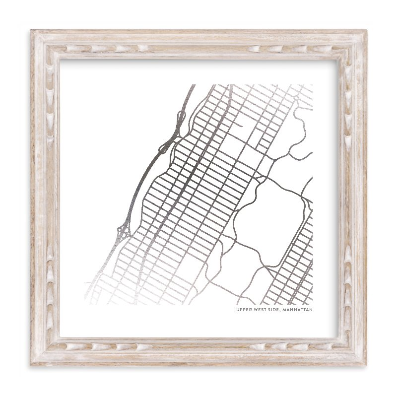 """""""Custom Map Foil Art"""" - Map Foil Art by Minted in beautiful frame options and a variety of sizes."""