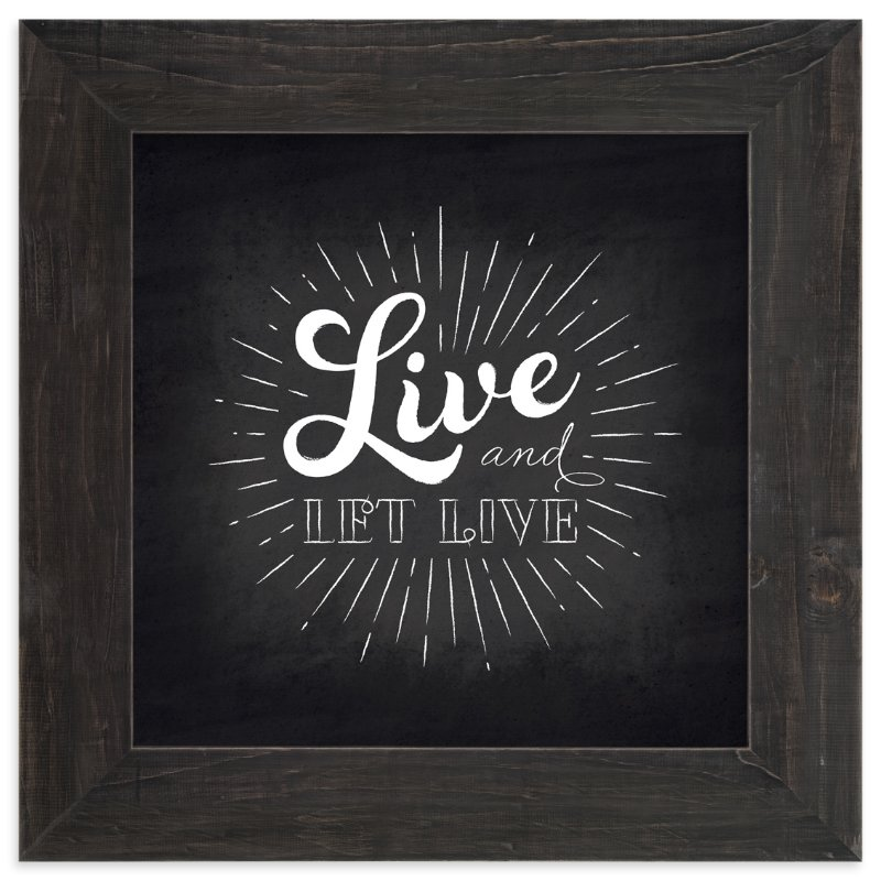 """""""Let Live"""" - Art Print by Ann Gardner in beautiful frame options and a variety of sizes."""