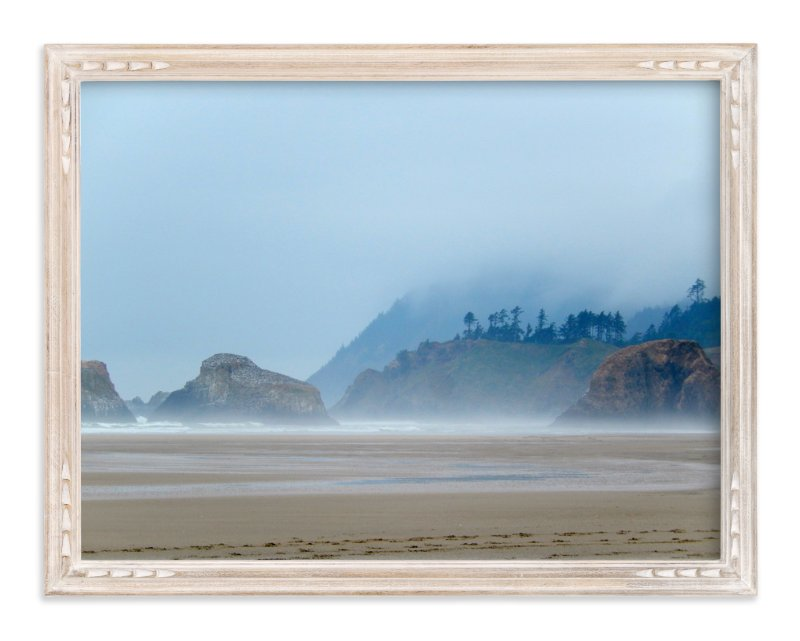 """Misty Coast"" - Art Print by Jan Kessel in beautiful frame options and a variety of sizes."