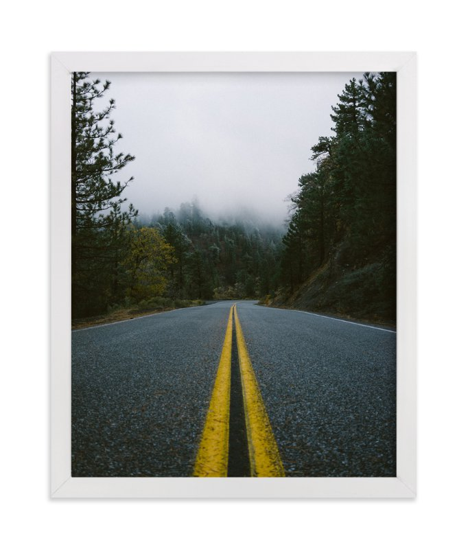 """Road In The Clouds"" - Art Print by Christian Florin in beautiful frame options and a variety of sizes."