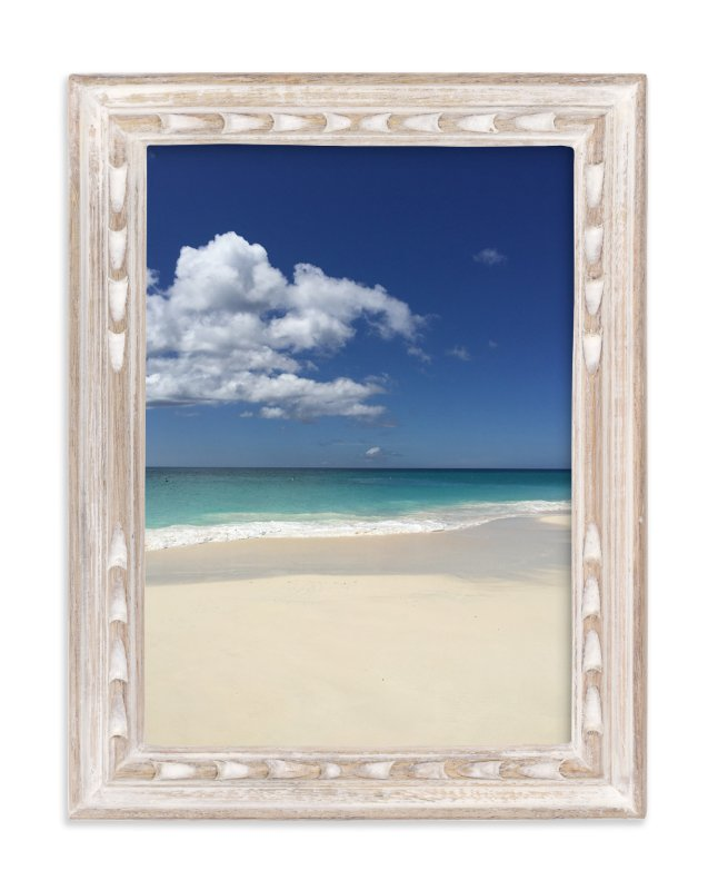 """""""Splashing Blue & White"""" - Art Print by CaroleeXpressions in beautiful frame options and a variety of sizes."""