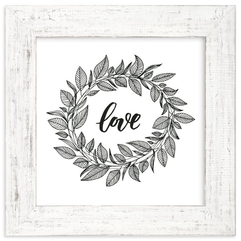 """Love Wreath by LY"" - Art Print by Lyna Ti in beautiful frame options and a variety of sizes."