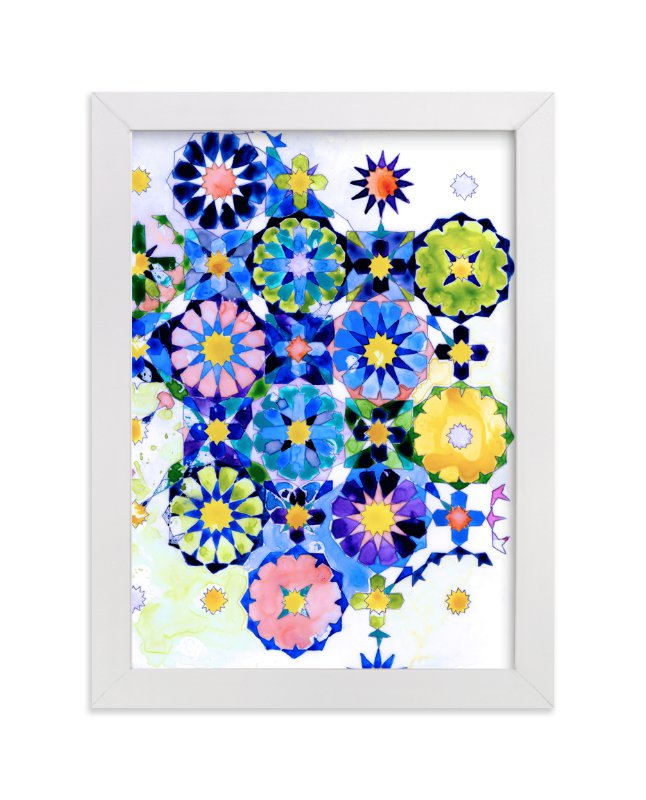 """""""Geometric Moroccan Tile"""" - Art Print by Pooja Pittie in beautiful frame options and a variety of sizes."""
