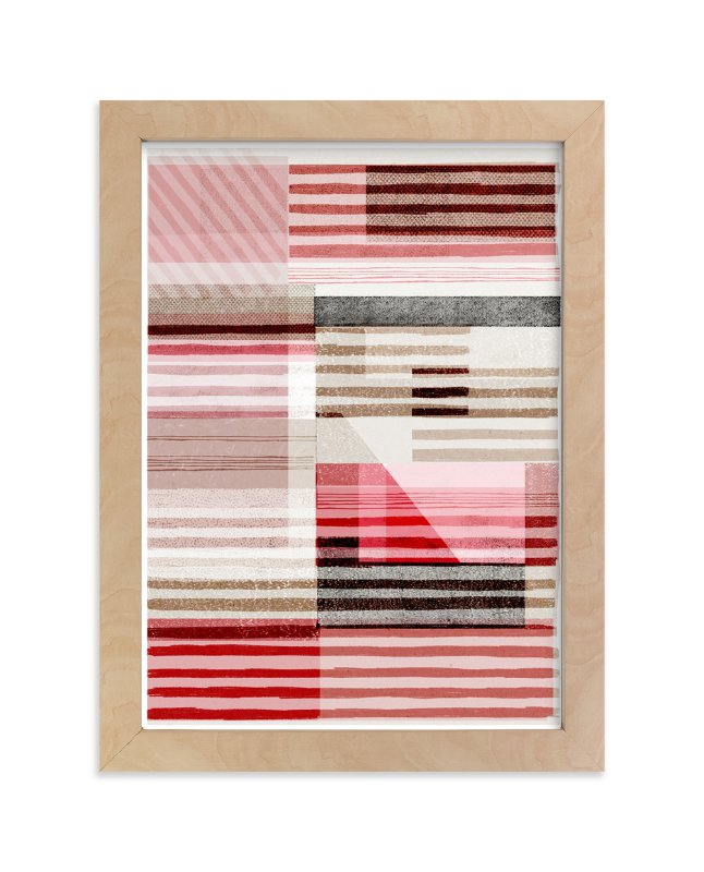"""""""Lined Abstract"""" - Art Print by Francesca Iannaccone in beautiful frame options and a variety of sizes."""