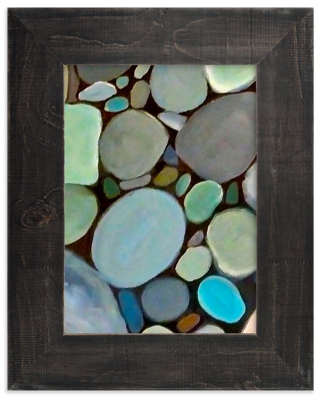 """""""Beach Stones"""" - Art Print by Jenny Partrite in beautiful frame options and a variety of sizes."""