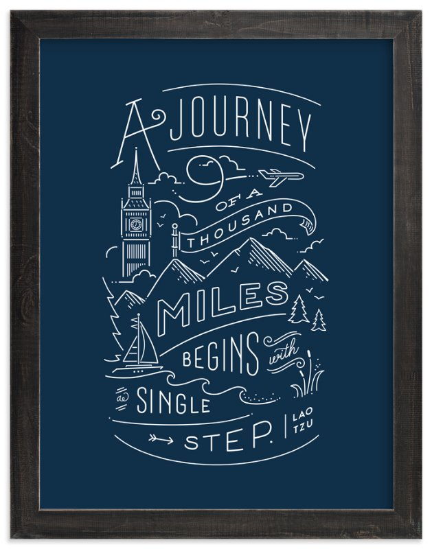 """Journey of a thousand miles"" - Art Print by Jennifer Wick in beautiful frame options and a variety of sizes."