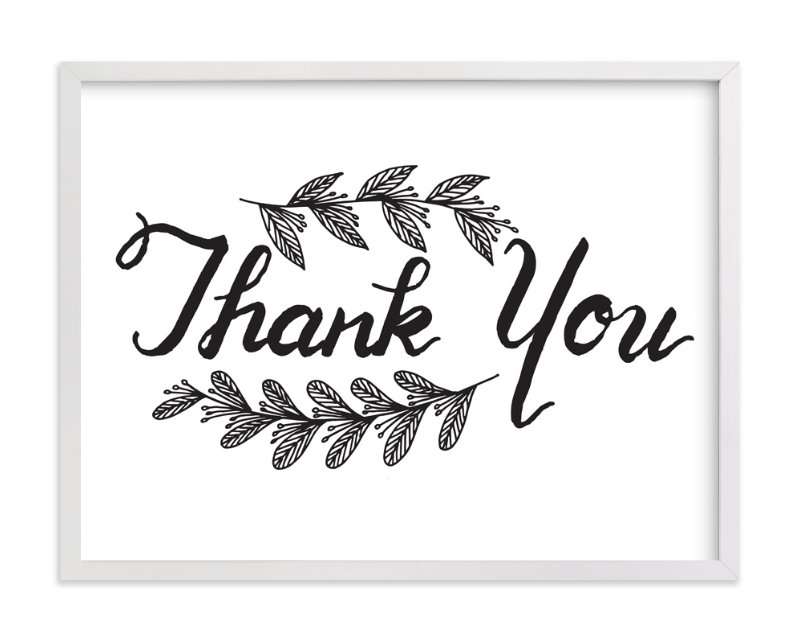 """""""Thank you"""" - Art Print by aticnomar in beautiful frame options and a variety of sizes."""