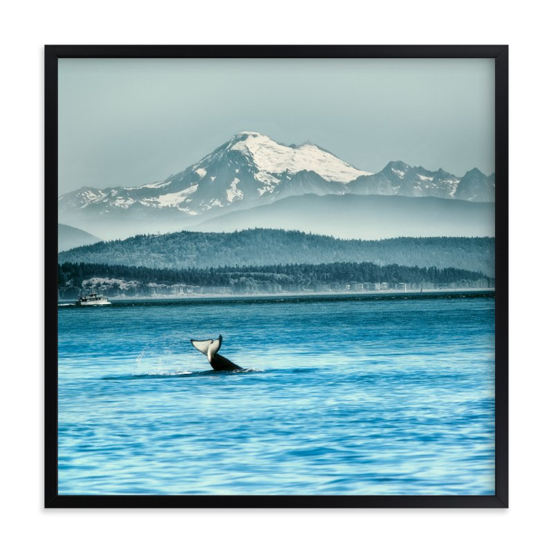 """Whale of a Tale"" - Art Print by Michelee Scott in beautiful frame options and a variety of sizes."