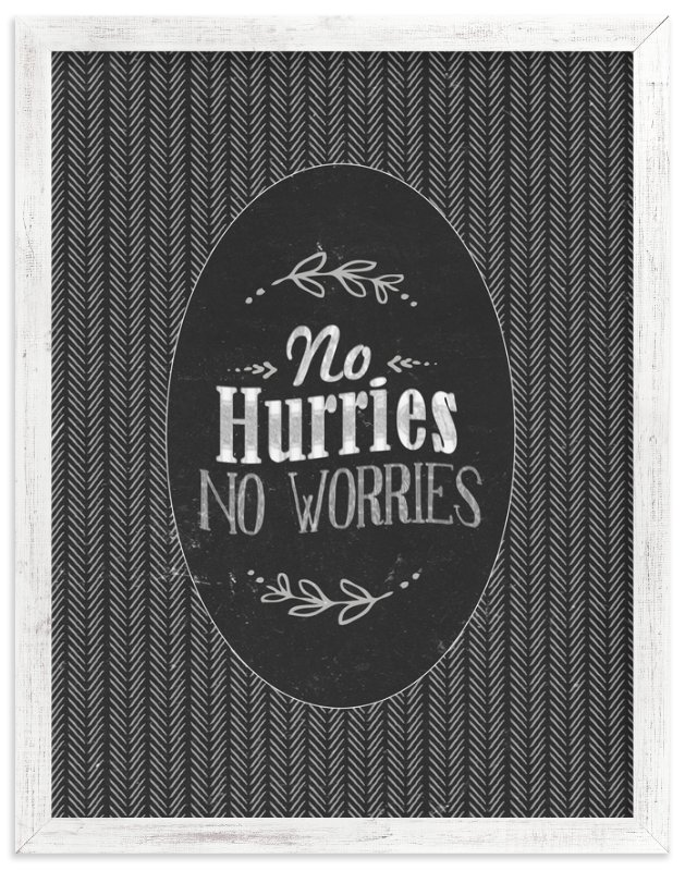 """""""No Worries"""" - Art Print by Smile Peace Love in beautiful frame options and a variety of sizes."""