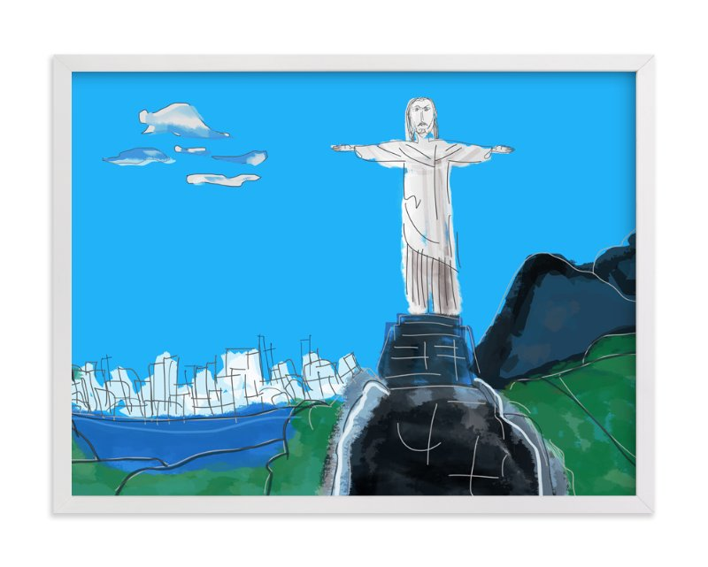 """The Redeemer, Rio"" - Art Print by Stuart Heir in beautiful frame options and a variety of sizes."