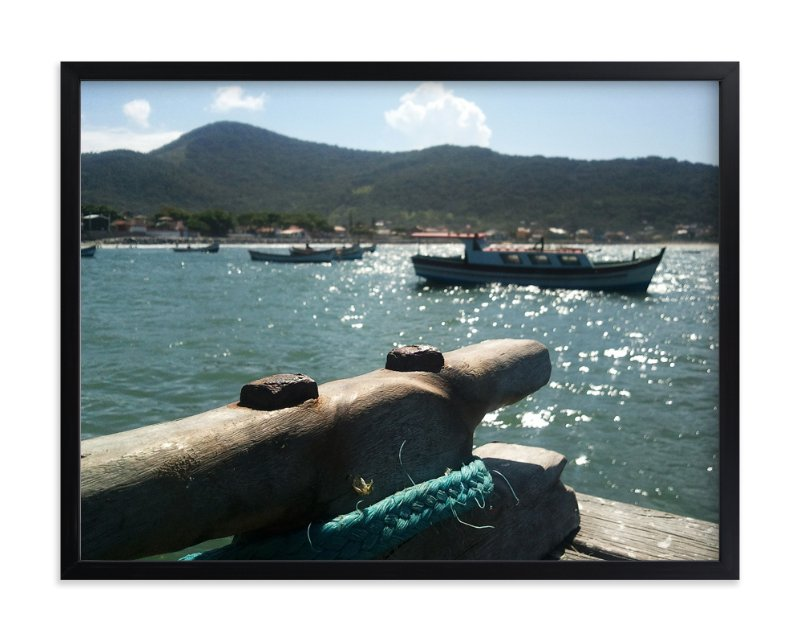 """""""Fishermen's Dock"""" - Art Print by Augusto Ferreira in beautiful frame options and a variety of sizes."""