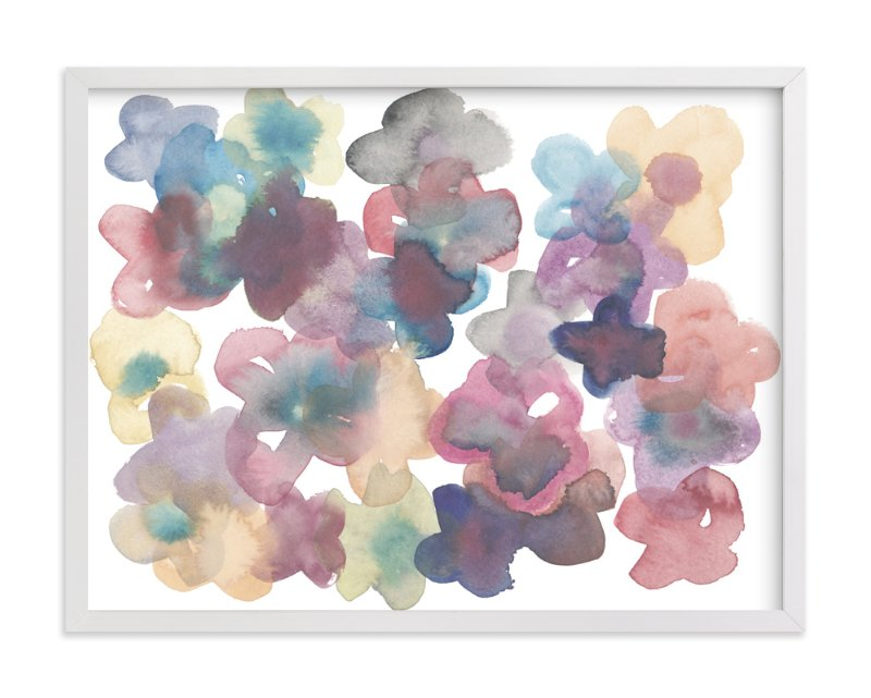 """""""Silk Flowers"""" - Art Print by Kim Johnson in beautiful frame options and a variety of sizes."""