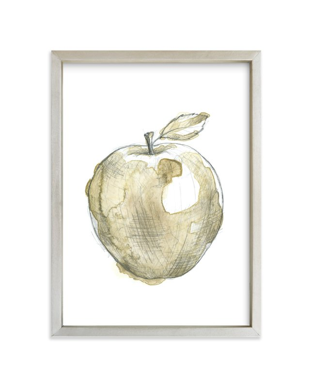 """Eat More Fruits - Apple"" - Art Print by Susanne Kasielke in beautiful frame options and a variety of sizes."