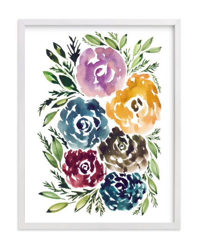 """""""hand painted flowers"""" - Art Print by aticnomar in beautiful frame options and a variety of sizes."""
