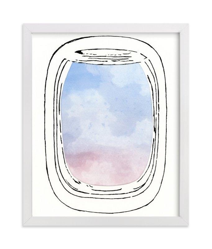"""Jet-Setter"" - Art Print by Michelle Waldie in beautiful frame options and a variety of sizes."