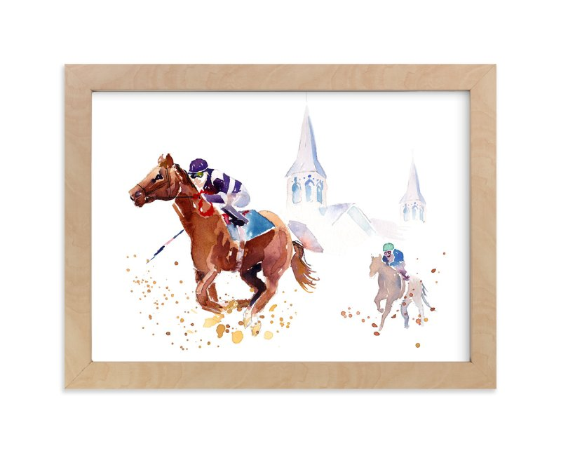 """""""Derby Day"""" - Art Print by Haley Mistler in beautiful frame options and a variety of sizes."""