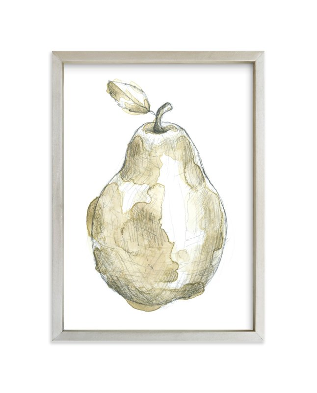 """Eat More Fruits - Pear"" - Art Print by Susanne Kasielke in beautiful frame options and a variety of sizes."