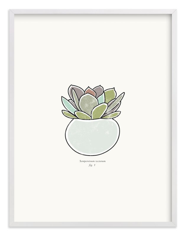 """""""Succulent figure 1"""" - Art Print by Stacey Meacham in beautiful frame options and a variety of sizes."""