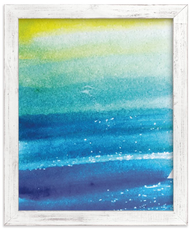 """Sunlit Waters"" - Art Print by Roopali in beautiful frame options and a variety of sizes."